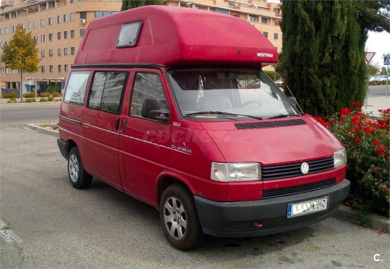 VW T4 CALIFORNIA, 2.4 D TECHO ALTO RIGIDO AÑO 1992, DIESEL 42 kw (57 CV), WESTFA