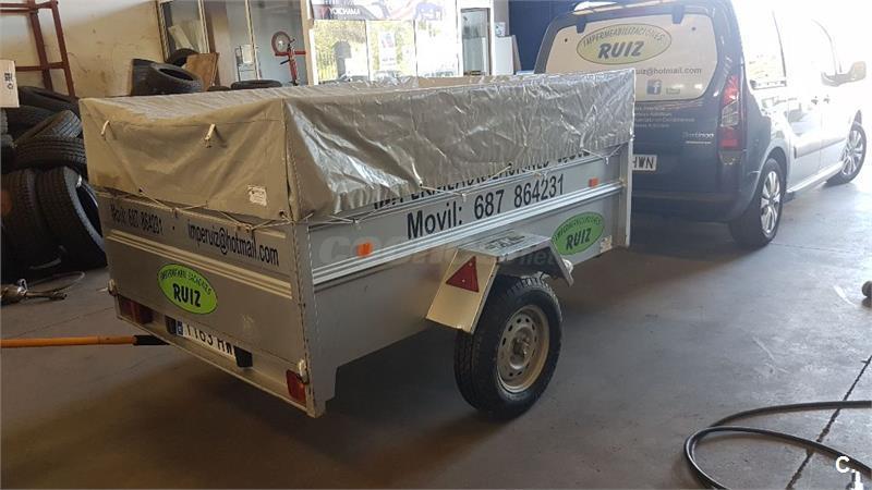 Remolque de carga de 1 eje sin frenos