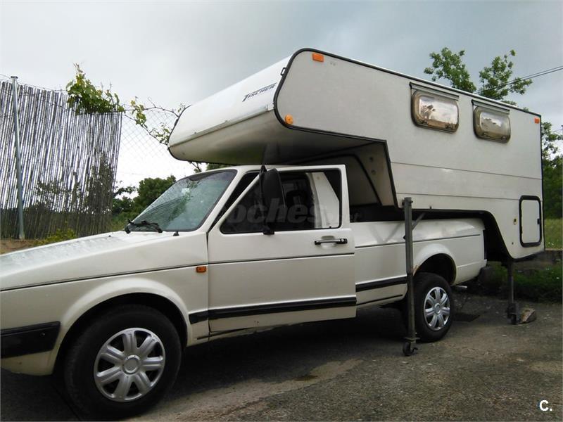 Vw Caddy MK1 pickup con célula vivienda Tischer 232.
