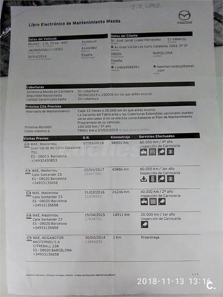 MAZDA Mazda3 1.5 GE 100 MT Style Confort 5p.