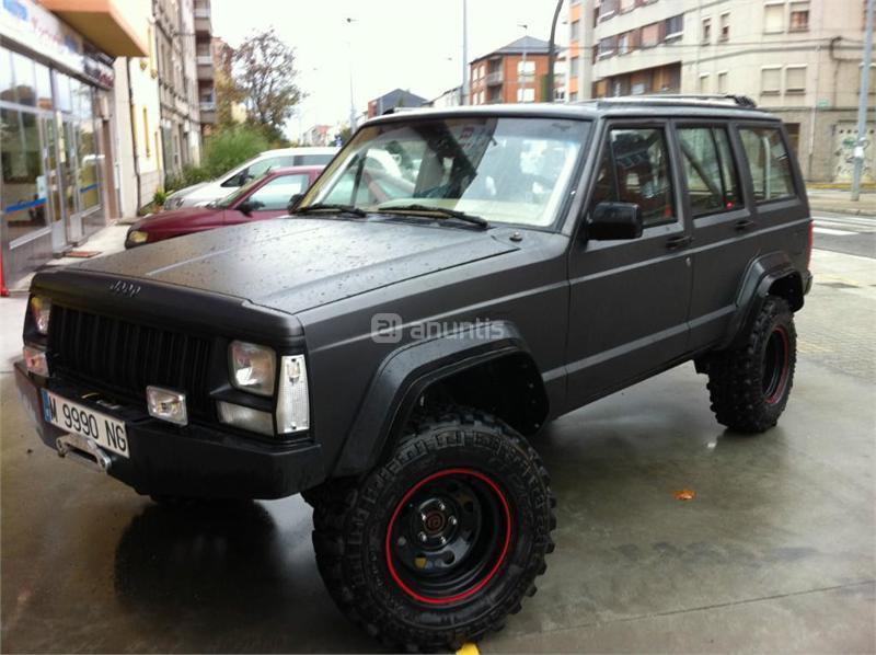 jeep cherokee 4x4 4 0 auto jamboree gasolina de color gris plata mate del a o 1997 con. Black Bedroom Furniture Sets. Home Design Ideas