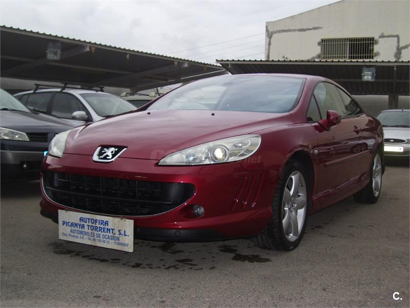 peugeot 407 coupe 3 0 v6 hdi 240cv fap automatico diesel granate del 2011 con 88338km en. Black Bedroom Furniture Sets. Home Design Ideas