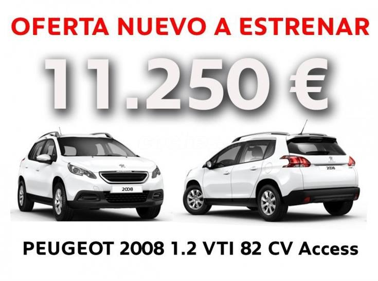 peugeot 2008 todo terreno access 1 2 puretech 82 gasolina de km0 de color blanco en navarra. Black Bedroom Furniture Sets. Home Design Ideas