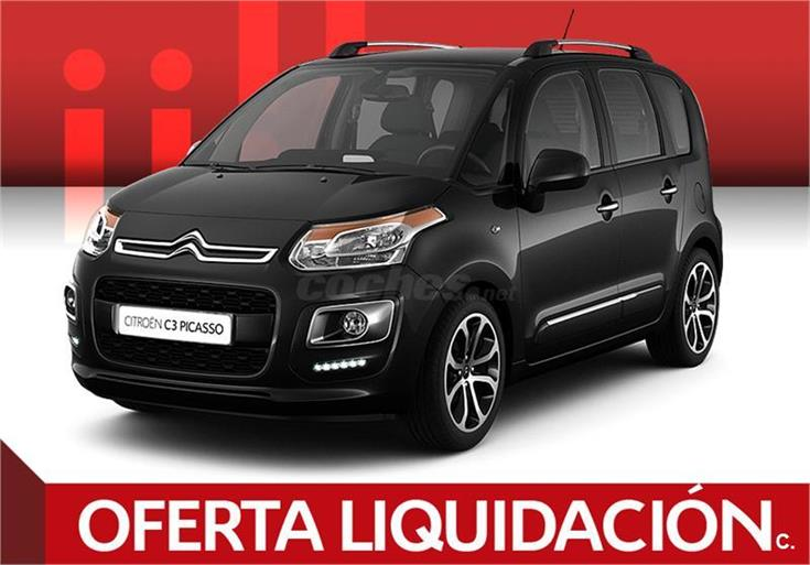 citroen c3 picasso monovolumen bluehdi 100 feel edition diesel de km0 de color negro negro. Black Bedroom Furniture Sets. Home Design Ideas