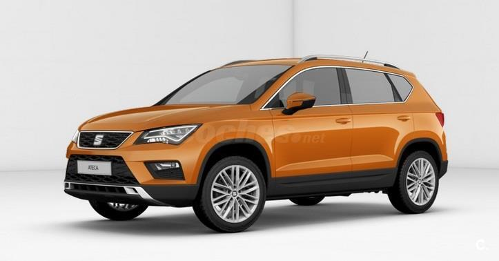 seat ateca todo terreno 1 4 ecotsi 150cv stsp xcellence gasolina de color naranja del a o 2016. Black Bedroom Furniture Sets. Home Design Ideas