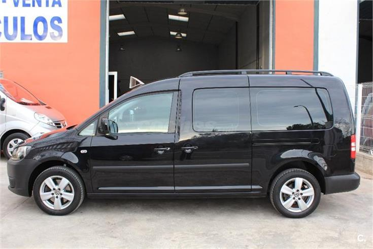 volkswagen caddy maxi tramper edition 2 0 tdi 140cv bmt diesel negro del 2013 con 118000km en. Black Bedroom Furniture Sets. Home Design Ideas