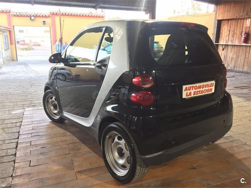 Smart fortwo coupe 62 passion gasolina negro del 2012 con for Smart segunda mano sevilla