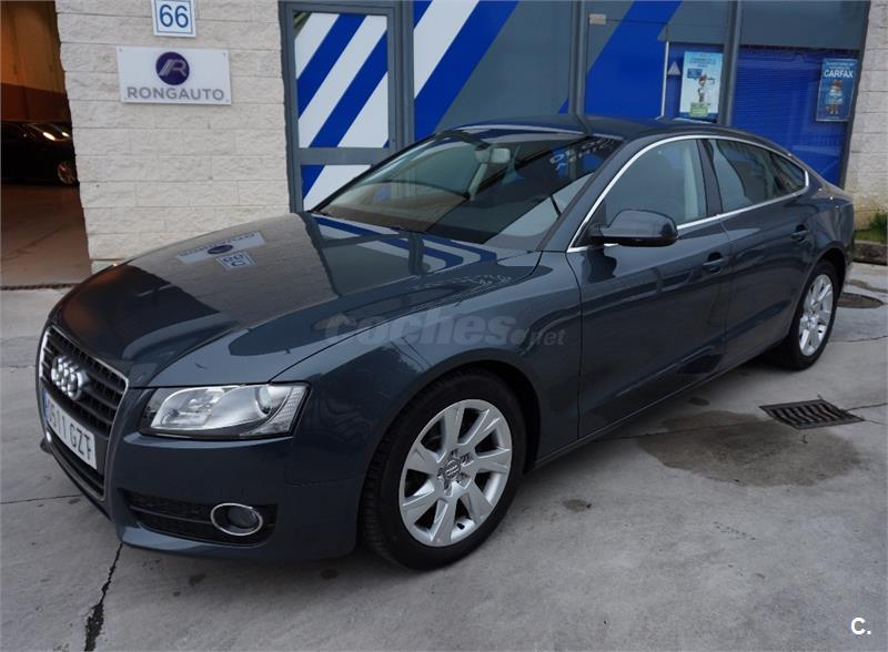 audi a5 sportback 2 0 tdi 170cv diesel gris plata del 2010 con 37800km en navarra 31967012. Black Bedroom Furniture Sets. Home Design Ideas