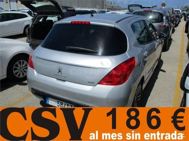 peugeot 308 5p allure 2 0 hdi 150 fap diesel gris plata del 2013 con 68000km en barcelona 32094674. Black Bedroom Furniture Sets. Home Design Ideas