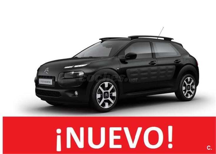 citroen c4 cactus berlina bluehdi 100 feel edition diesel de km0 de color negro en barcelona. Black Bedroom Furniture Sets. Home Design Ideas