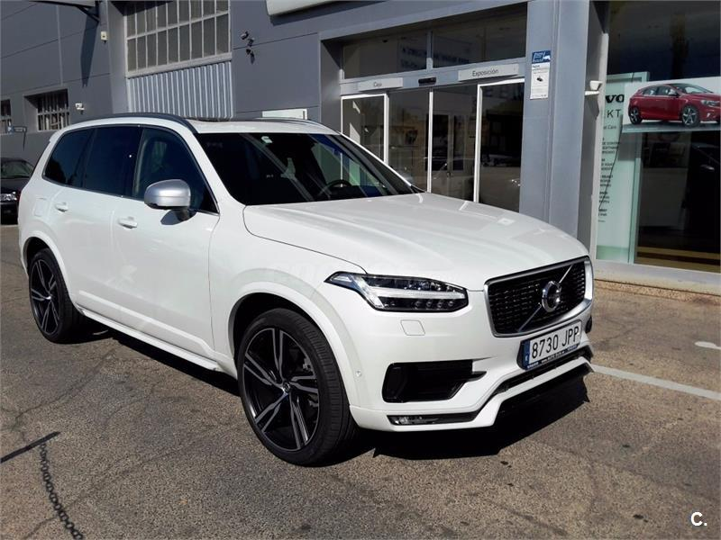 volvo xc90 4x4 2 0 d5 awd rdesign auto diesel de color blanco crystal white del a o 2016 con. Black Bedroom Furniture Sets. Home Design Ideas