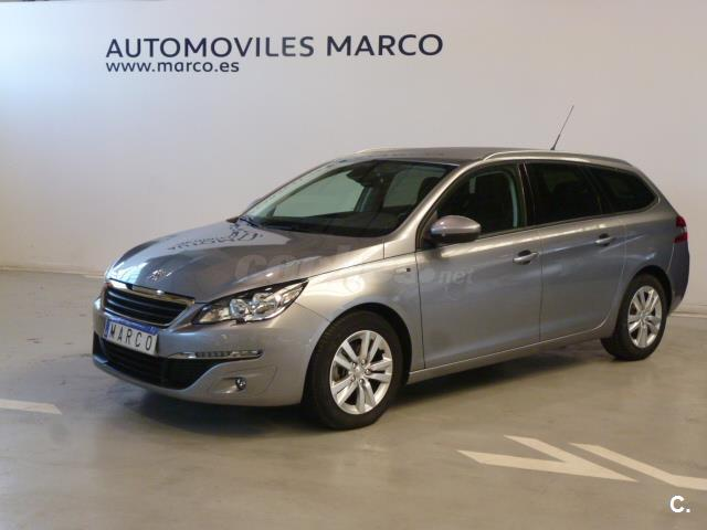 peugeot 308 sw style 1 6 bluehdi 120 diesel gris plata gris artense del 2016 con 51000km en. Black Bedroom Furniture Sets. Home Design Ideas