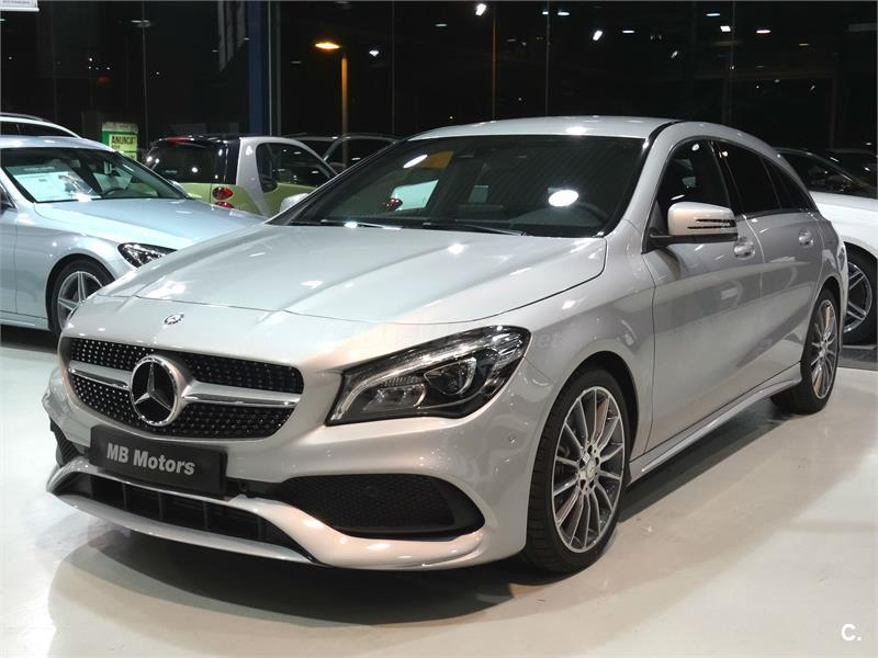 mercedes benz clase cla familiar cla 220 d amg line shooting brake diesel de nuevo de color gris. Black Bedroom Furniture Sets. Home Design Ideas