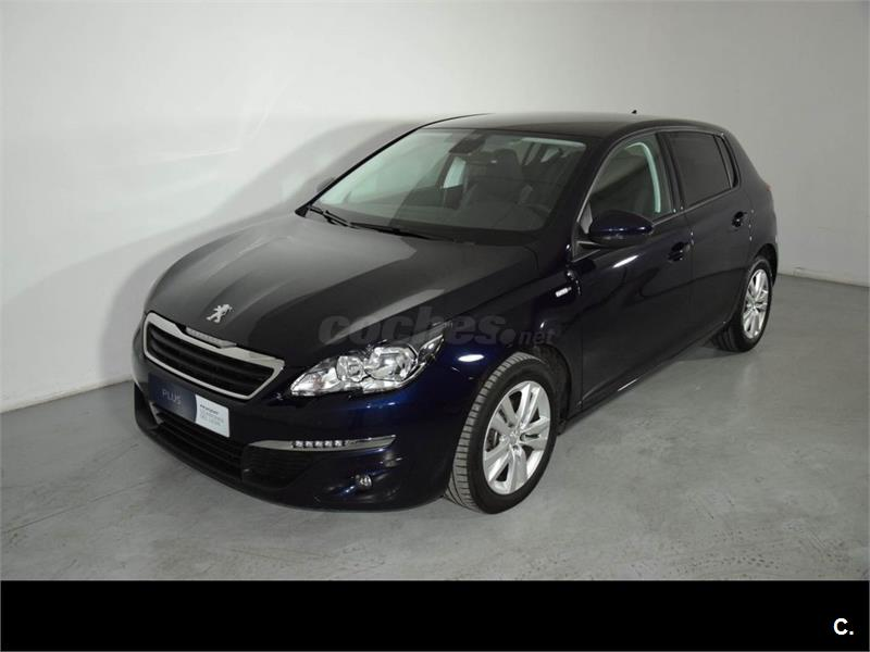 peugeot 308 5p style 1 6 bluehdi 100 diesel azul dark blue metalizado del 2016 con 19378km. Black Bedroom Furniture Sets. Home Design Ideas