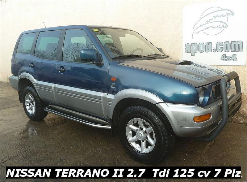 nissan terrano ii 4x4 2 7 tdi elegance diesel de color azul plata del a o 1999 con 230000km en. Black Bedroom Furniture Sets. Home Design Ideas