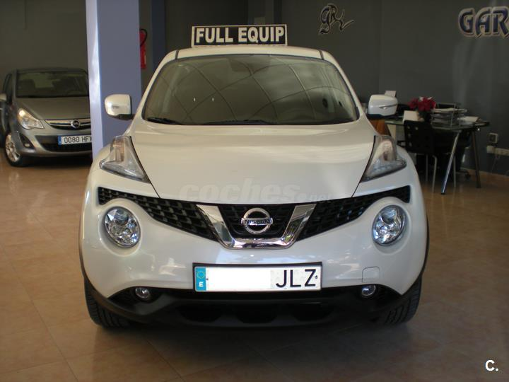 nissan juke 4x4 1 5 dci acenta 4x2 diesel de color blanco del a o 2015 con 15800km en m laga. Black Bedroom Furniture Sets. Home Design Ideas