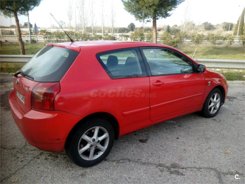 toyota corolla 2 0 d4d linea sol 116cv diesel rojo del 2003 con 278000km en madrid 32681950. Black Bedroom Furniture Sets. Home Design Ideas