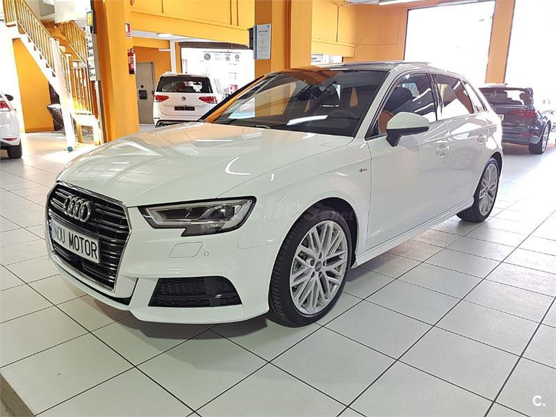 audi a3 s line edition 2 0 tdi sportback diesel blanco del. Black Bedroom Furniture Sets. Home Design Ideas