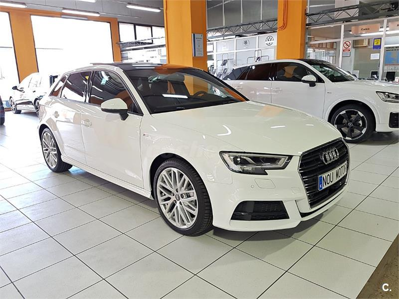 audi a3 s line edition 2 0 tdi sportback diesel blanco del 2017 con 3500km en barcelona 32684258. Black Bedroom Furniture Sets. Home Design Ideas