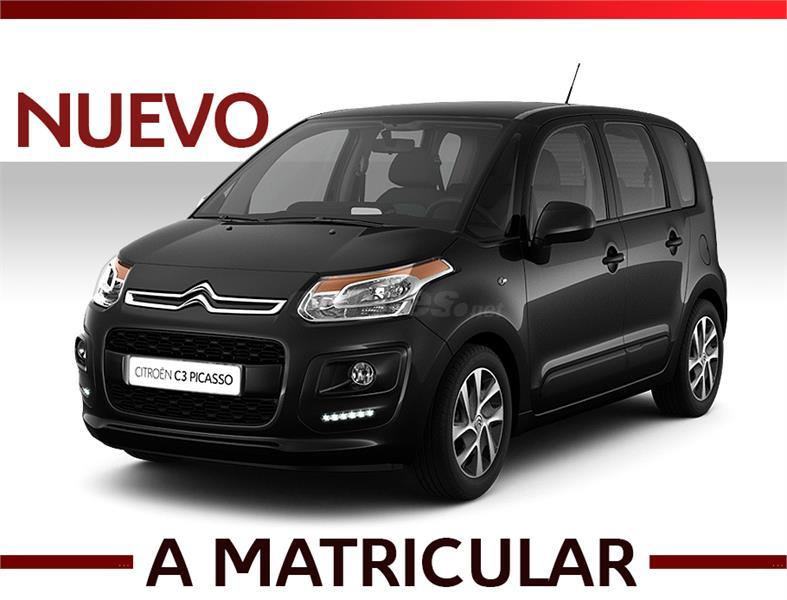 citroen c3 picasso monovolumen bluehdi 73kw 100cv live edition diesel de km0 de color negro. Black Bedroom Furniture Sets. Home Design Ideas