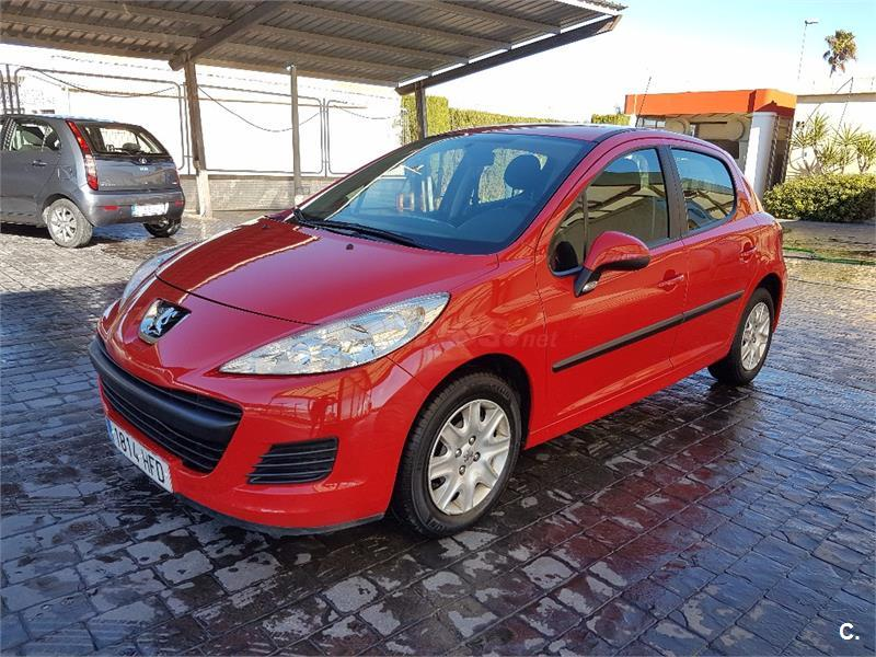 peugeot 207 active 1 4 hdi 70 fap diesel rojo del 2011 con. Black Bedroom Furniture Sets. Home Design Ideas