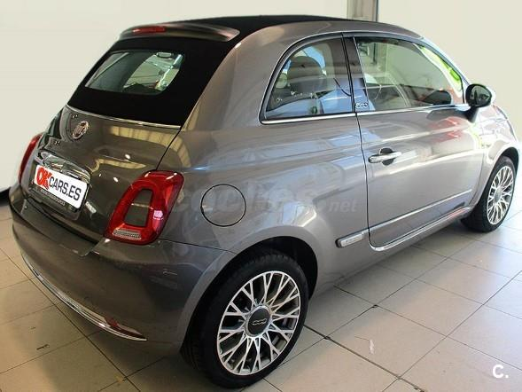 fiat 500c 1 2 8v 69 cv lounge gasolina gris plata gris pompei del 2016 con 6336km en. Black Bedroom Furniture Sets. Home Design Ideas
