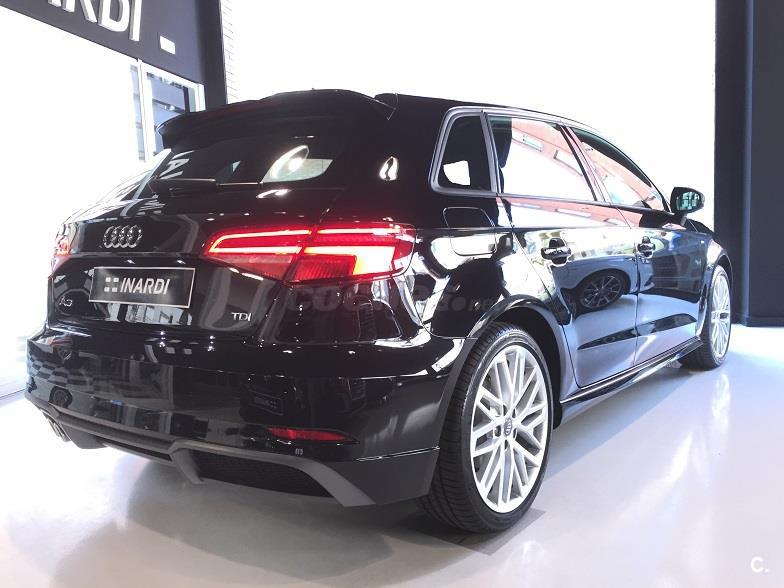 audi a3 s line edition 2 0 tdi sportback diesel negro negro mito metalizado del 2017 con 15km. Black Bedroom Furniture Sets. Home Design Ideas
