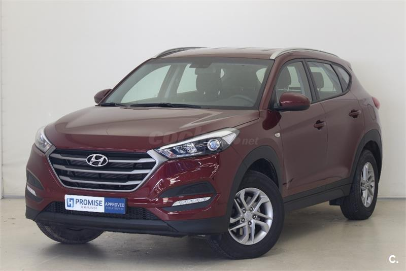 hyundai tucson 4x4 1 6 gdi bluedrive essence 4x2 gasolina de color granate del a o 2016 con. Black Bedroom Furniture Sets. Home Design Ideas