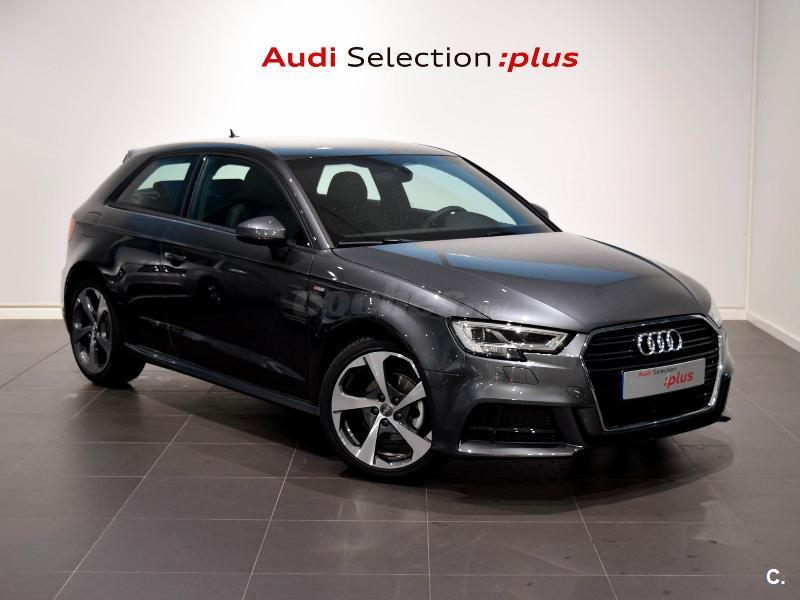 audi a3 s line edition 2 0 tdi diesel gris plata del 2017 con 9776km en a coru a 32956345. Black Bedroom Furniture Sets. Home Design Ideas