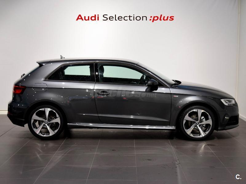 audi a3 s line edition 2 0 tdi diesel gris plata del 2017 con 6315km en a coru a 32956345. Black Bedroom Furniture Sets. Home Design Ideas