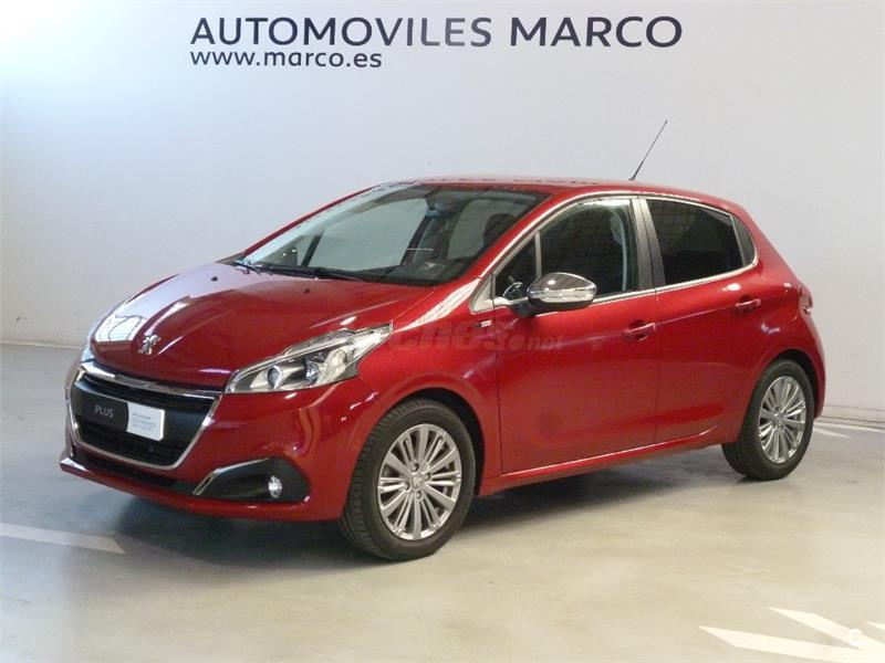 peugeot 208 5p style puretech 82 gasolina rojo rojo rubi del 2016 con 9000km en navarra. Black Bedroom Furniture Sets. Home Design Ideas