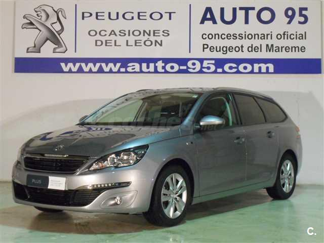 peugeot 308 sw style 1 6 bluehdi 120 diesel gris plata del 2016 con 23522km en barcelona 33074854. Black Bedroom Furniture Sets. Home Design Ideas