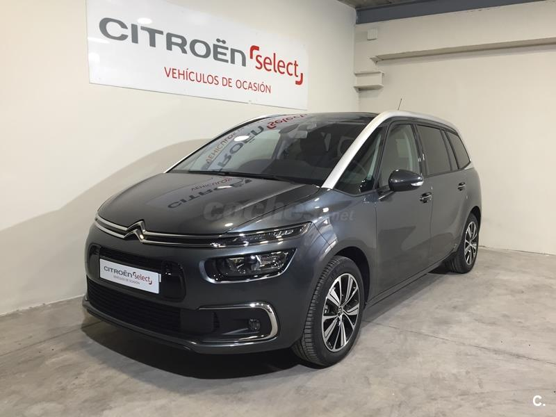 citroen grand c4 picasso monovolumen bluehdi 88kw 120cv feel diesel de km0 de color gris plata. Black Bedroom Furniture Sets. Home Design Ideas