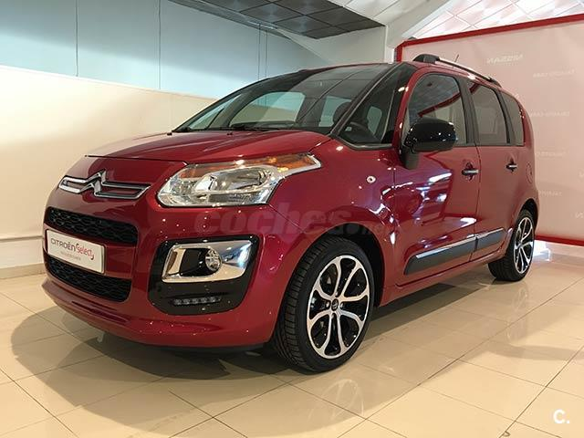 citroen c3 picasso bluehdi 100 feel edition diesel rojo rojo rub del 2016 con 8471km en. Black Bedroom Furniture Sets. Home Design Ideas