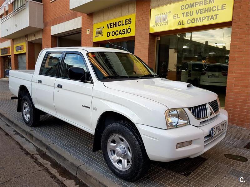 Mitsubishi l200 pick up doble cabina 4x4 classic diesel de color blanco blanco del a o 2006 - Mitsubishi l200 doble cabina ...