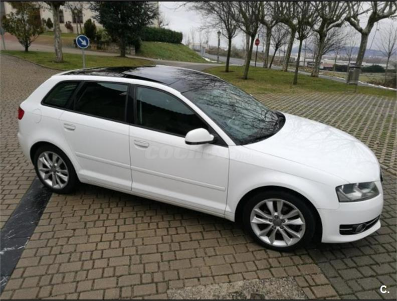 audi a3 sportback 2 0 tdi 140cv ambition diesel blanco del 2012 con 140000km en navarra 34216420. Black Bedroom Furniture Sets. Home Design Ideas