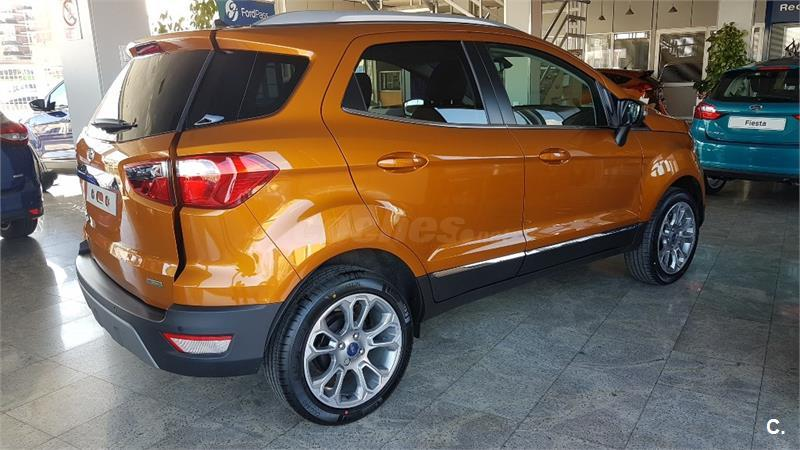 ford ecosport 4x4 ecoboost 92kw 125cv ss titanium gasolina de nuevo de color naranja. Black Bedroom Furniture Sets. Home Design Ideas