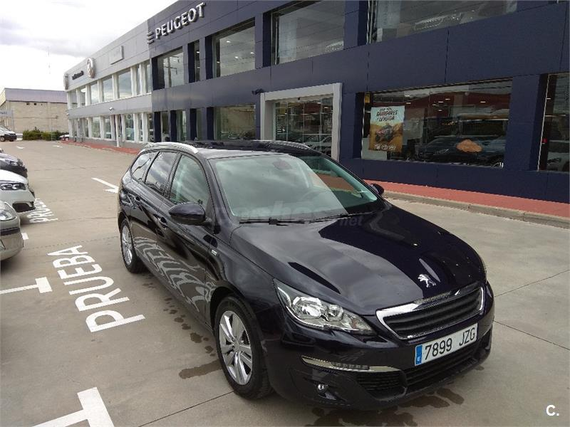peugeot 308 sw style 1 6 bluehdi 88kw 120cv eat6 diesel azul azul dark blue del 2017 con. Black Bedroom Furniture Sets. Home Design Ideas