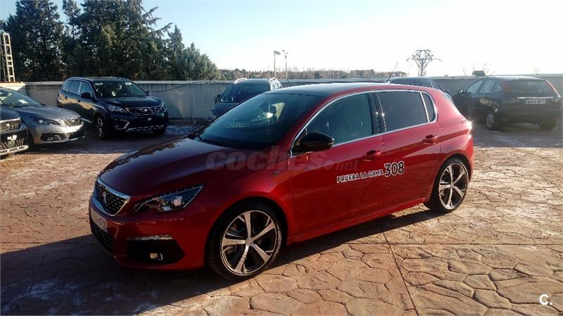 peugeot 308 berlina gt bluehdi 132kw 180cv eat8 diesel de gerencia de color rojo en madrid 34454422. Black Bedroom Furniture Sets. Home Design Ideas