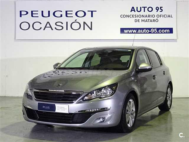 peugeot 308 5p style 1 6 bluehdi 73kw 100cv diesel gris plata del 2017 con 35775km en. Black Bedroom Furniture Sets. Home Design Ideas