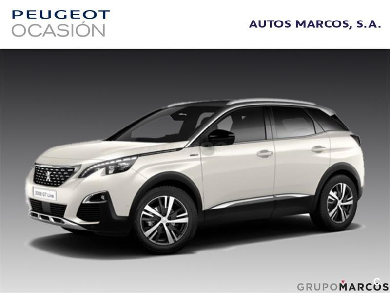 peugeot 3008 4x4 1 2 puretech 96kw 130cv gt line ss gasolina de nuevo de color blanco banquise. Black Bedroom Furniture Sets. Home Design Ideas