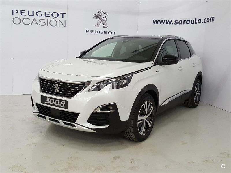 peugeot 3008 4x4 gt line bluehdi 96kw 130cv ss eat8 diesel de nuevo de color blanco blanco en. Black Bedroom Furniture Sets. Home Design Ideas