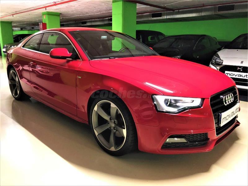 audi a5 coupe 2 0 tdi 177cv s line edition diesel rojo del 2013 con rh coches net