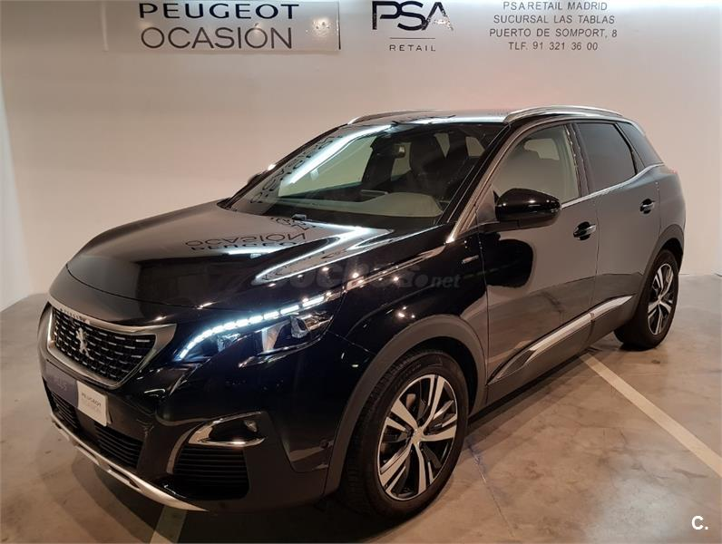 peugeot 3008 4x4 gt line bluehdi 132kw 180cv ss eat8 diesel de km0 de color negro negro negro. Black Bedroom Furniture Sets. Home Design Ideas