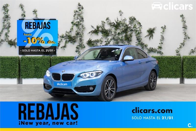 bmw serie 2 coupé 220ia gasolina de km0 de color azul (azul) en