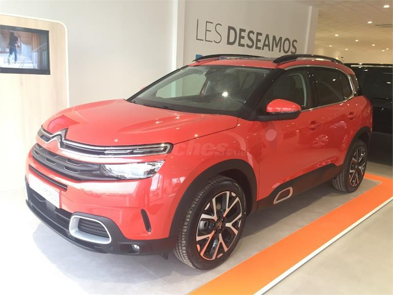 citroen c5 aircross 4x4 bluehdi 96kw 130cv ss eat8 feel diesel de nuevo de color rojo rojo en. Black Bedroom Furniture Sets. Home Design Ideas