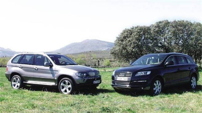 Q7 contra BMW X5: Comparativa