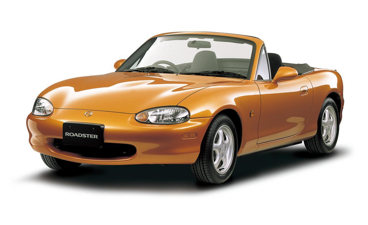 Mazda MX-5 NB naranja 1998-2005 1:43 43 primer modelo de coche con o sin persona...