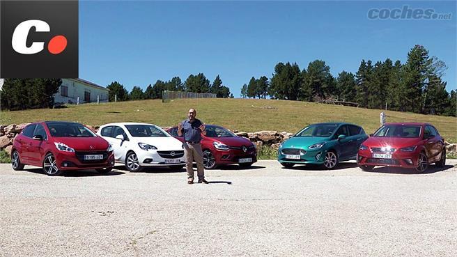 Comparativo: Fiesta, Ibiza, Clio, Corsa y 208 de gasolina