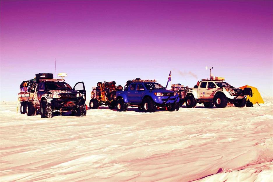 Toyota Hilux en la Antártida